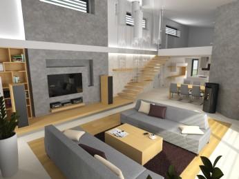 Kompletní návrh interiéru RD Opava