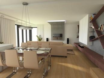 Návrh interiéru novostavby v Olomouci